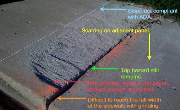 Concrete Sidewalk Grinding : Ppc advantage precision sidewalk safety